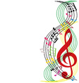 Music notes composition musical theme background vector image vector image