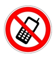 No phone sign 804 vector image vector image