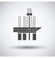 Oil sea platform icon vector image vector image