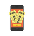 online buy cinema tickets vector image