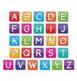 paper capital letter vector image vector image