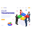 partnership teamwork business mans and womans vector image vector image