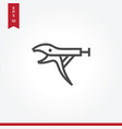 pliers icon in modern style for web site and vector image vector image