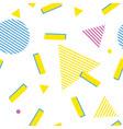 pop art geometric seamless pattern color vector image