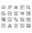 programming icon set vector image vector image