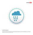 rain cloud icon - white circle button vector image