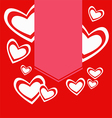 red hearts with label Valentine vector image
