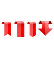 red shiny 3d stickers vector image vector image