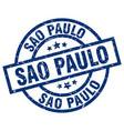 sao paulo blue round grunge stamp vector image