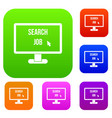 search job set collection vector image vector image