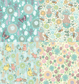 set floral patterns vector image