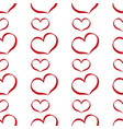 set of romantic heart on valentine love day vector image