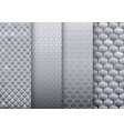 set of silver textures backgrounds vector image