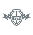shield knight logo simple gray style vector image vector image