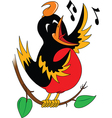 Singing bird cartoon vector image vector image