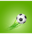 soccer ball flying vector image vector image