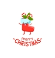 sock with gifts cheerful christmas card vector image vector image