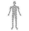 stomatology man figure vector image