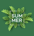 summer tropical leaf paper cut style vector image vector image