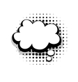 Template funny comic speech cloud bubble vector image vector image