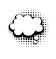 Template funny comic speech cloud bubble vector image vector image