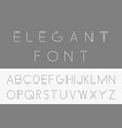 thin minimalistic font english alphabet vector image vector image