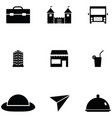 tourism icon set vector image vector image