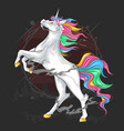 unicorn majestic full colour vector image vector image