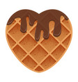 valentines day heart shaped waffles with vector image vector image