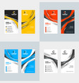 vertical business card template flat style vector image vector image
