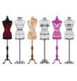 vintage fashion mannequins vector image vector image