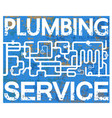 water pipes service design vector image