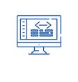 Web coding line icon concept web coding flat