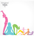 woman doing yogasan for international yoga day vector image vector image
