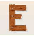 Wooden letter e vector | Price: 1 Credit (USD $1)