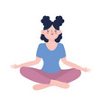 young woman practicing meditation yoga isolated vector image