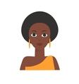 African Black Woman Flat vector image