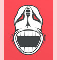 skull on red background vector image