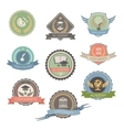 University Emblems And Symbols - Isolated Graphic vector image