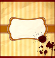 Crumpled frame with chocolate drops vector image