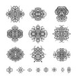 ornamental patterns in the oriental style vector image