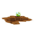 a big hole ground ground works vector image vector image