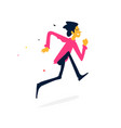 a cheerful man running cartoon flat style vector image vector image