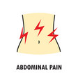 abdominal pain or stomach-ache logo or icon vector image