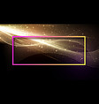 abstract shiny background with colorful frame vector image vector image