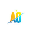 alphabet letter aq a q combination for logo vector image vector image