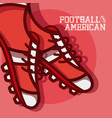 american football red design vector image vector image