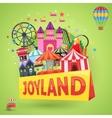 Amusement Park Emblem vector image vector image
