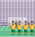 Australia Soccer Club Penalty on a Stadium vector image vector image