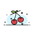 berry cherry food spring business flat line vector image vector image